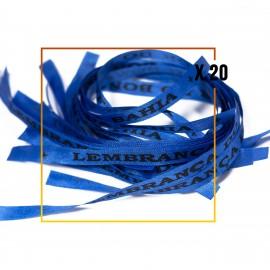 20 Bracelets brésiliens bleu porte bonheur fita Senhor da Bonfim, paquets de 20 fitas bleu