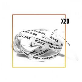 Bracelets brésiliens porte bonheur fita Senhor da Bonfim, paquets de 20 fitas blanc