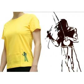 "Tshirt ""Mestres"" femme - Berimbau jaune"