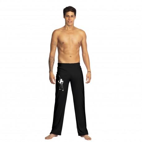 Pantalon de capoeira noir pour homme Tocando - Mestres Brasil