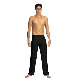 Black capoeira pants for men