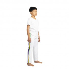 White capoeira pants for children Brazil - Mestres Brasil