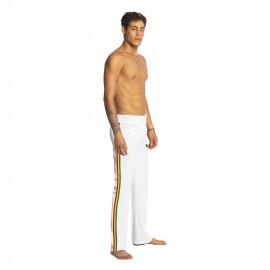 Pantalon de capoeira blanc afro pour homme - Mestres Brasil