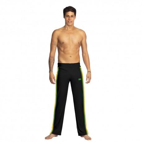 Pantalon de capoeira noir Afro pour homme - Mestres Brasil