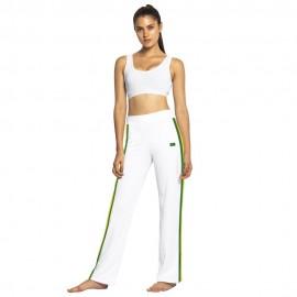 Pantalon de capoeira femme Afro blanc Mestres Brasil