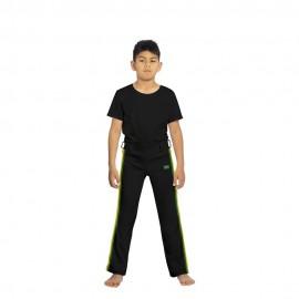 Pantalon de capoeira noir afro pour enfants