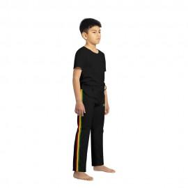 Pantalón de capoeira para niños negro Afro - Mestres Brasil