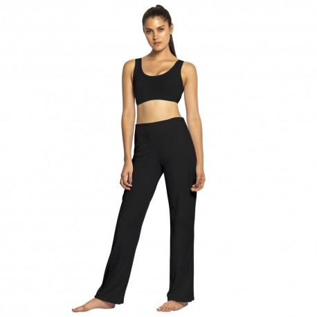 Black capoeira pants for women Mestres Brasil