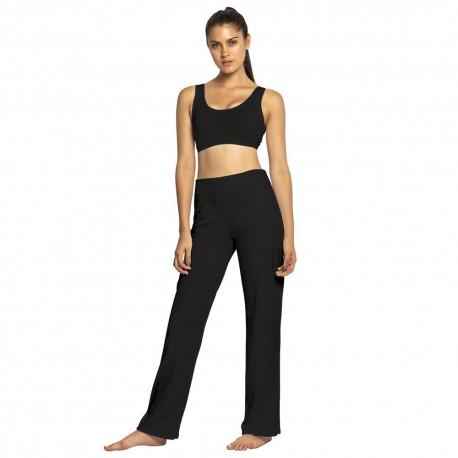 Pantaloni neri da capoeira da Donna - Mestres Brasil