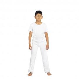 Pantalon de capoeira Mestres Brasil Blanc Enfant