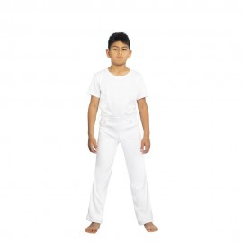 White capoeira pants for children - Mestres Brasil