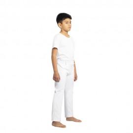 Pantalon de capoeira blanc enfants