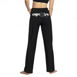 Pantalon de capoeira femme noir Capo3ira Mestres Brasil