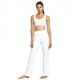 Pantalon de capoeira femme blanc Lisa Mestres Brasil