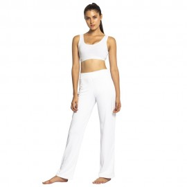 White capoeira pants for women - Mestres Brasil