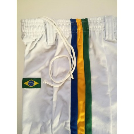 Pantaloni capoeira bianco afro brasil