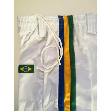 Pantalon de capoeira blanc afro Brésil pour homme