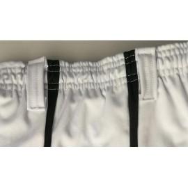 """Pantalon de capoeira - Abada JC """"Banda capoeira"""" blanc"""