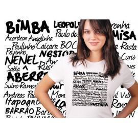 White capoeira tshirt Mestres