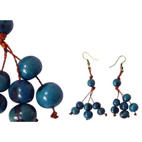 Boucles d'oreille acai turquoise