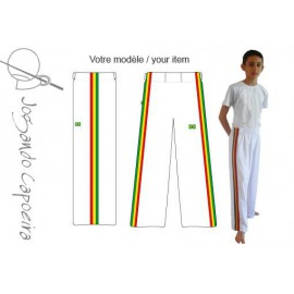 White afro capoeira pants for children - Jogando Capoeira