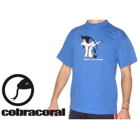 """Tee-shirt Cobracoral  © - Swing - """"Bençao"""" bleu"""