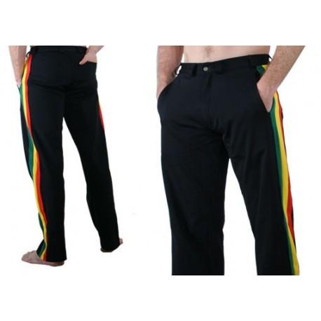 Pantalon de capoeira noir social afro - Marimbondo Sinha