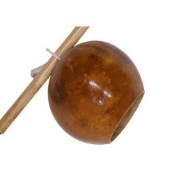 Calebasse seule pour berimbau, vernis naturel - sans le bois