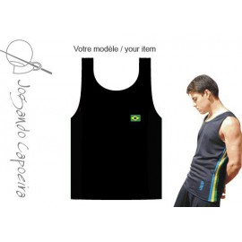 Black tank top for men Jogando Capoeira