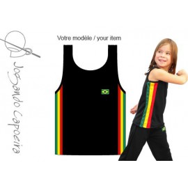 Black afro tank top capoeira for children