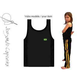 Black tank top capoeira for children