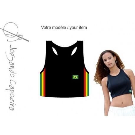 Top capoeira noir afro pour Femme - Mariposa