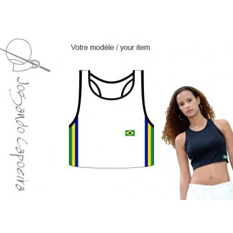 "Top ""Jogando Capoeira"" ©  Mariposa Afro blanc brasil"
