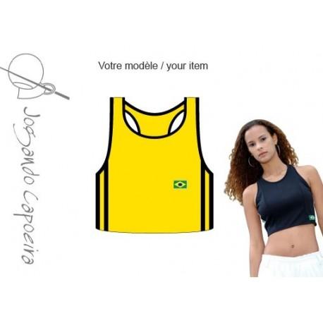 Top capoeira jaune et noir pour Femme - Duas Linhas