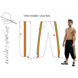 3/4 capoeira pants - Voador white afro