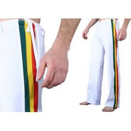 """Pantalon de capoeira Marimbondo Sinha """"Abada Afro blanc"""""""