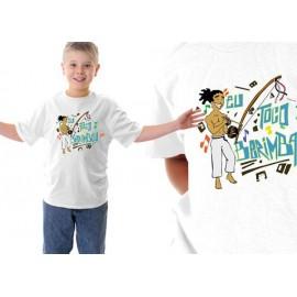 Tshirt  de capoeira enfant blanc Eu toco berimbau