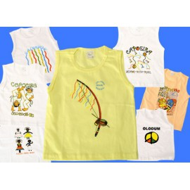 Light yellow Capoeira Tank top for kids