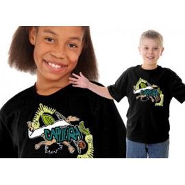 Black capoeira tshirt for kids