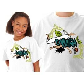 Tshirt enfant Capoeira blanc ENF01
