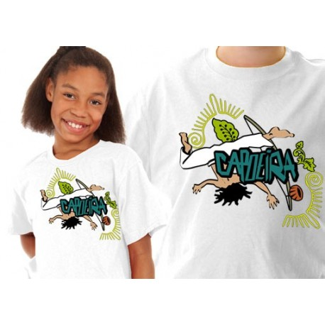 Tshirt enfant de Capoeira blanc ENF01