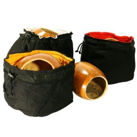 Housse de calebasse bicolore noir-jaune, coton