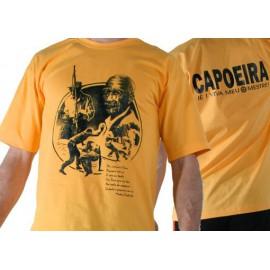 Yellow pastinha capoeira tshirt