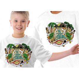 Tshirt enfant Eu jogo capoeira blanc ENF01