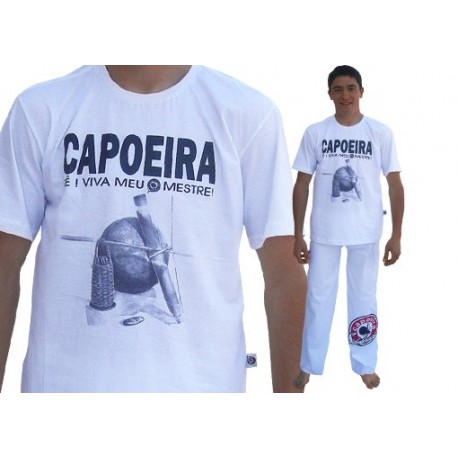 tshirt coton - Viva meu Mestre blanc