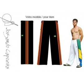 Pantalon de Capoeira noir et orange