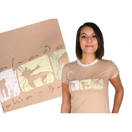 Tshirt Brasil Arte femme- idéogrammes capoeiristes Salvador