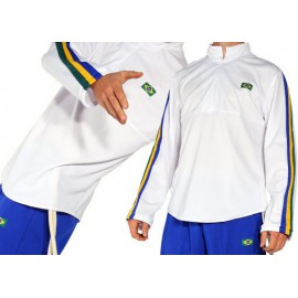 Sweat de capoeira blanc Ligeirinho afro Brésil