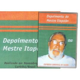 DVD Depoimento do Mestre Itapoãn - perguntas e respostas sobre capoeira regional