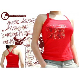 Red tank top capoeira tshirt for women